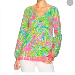 GORGEOUS  NEW Lilly Pulitzer Linzy Top XL